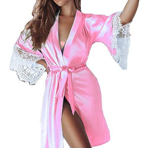 Cramberdy ✿Damen Zweiteiliger Anzug Sexy Nachthemd, Frau Sexy Dessous, Spitze Nachtkleid V-Ausschnitt Lingerie Nachtwäsche Dessous Unterwäsche für Damen, Lace Pyjamas Home Kleidung für Frauen