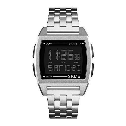 Relojes Pulsera Multifunción Outdoor Esfera Metálica Rectangular Digitale Relojes Hombre...
