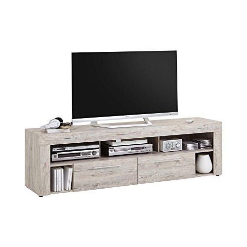 FMD Möbel Vibio 2 Multimedia Lowboard, Holz, sandeiche, 180 x 41.5 x 53 cm