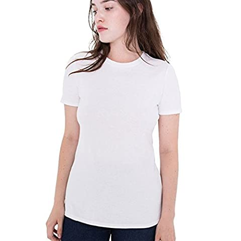 American Apparel - T-shirt - Moderne - Femme Medium - blanc - Large