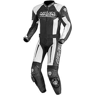Arlen Ness Monza 2-Teiler Motorrad Lederkombi 52 Schwarz/Weiß