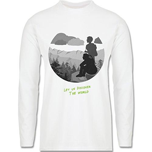 Statement Shirts - Backpacker - Longsleeve / langärmeliges T-Shirt für Herren Weiß
