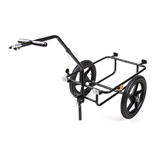 DURAMAXX Big-Mike • Fahrradanhänger • Lastenanhänger • Handwagen • mit Hochdeichsel • Transportbox mit 70 Liter Volumen • Tragkraft: max. 40 kg • Kugel-Kupplung für Fahrräder mit 26'' - 28'' • pulverbeschichteter Stahlrohrrahmen • schwarz - 5