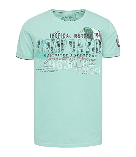 Tropical Camp-shirt (Camp David Shirt Tropical Trail Azure CCG-1804-3451 (M))