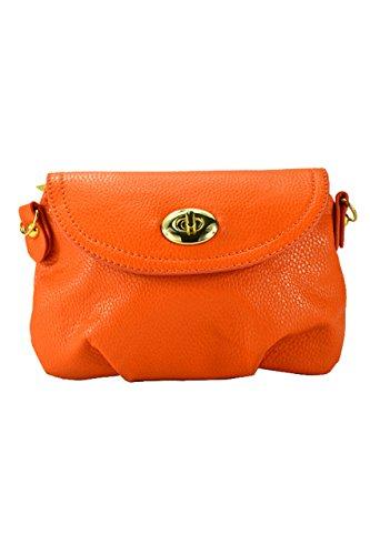 TOOGOO(R) Borsa a tracolla della borsa della borsa della borsa del messaggero delle donne borsa-Giallo arancia