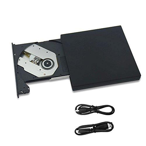 COWEEN CD Laufwerk Extern USB 2.0 CD Driver Combo mit Datenkabel CD Brenner für Win10 Win8 Win7 Mac