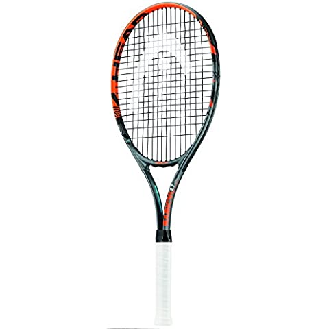 Head Radical 27 raqueta de tenis - negro/naranja, 4 agarre