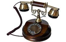 OPIS 1921 CABLE: Wählscheibentelefon im Retro Design aus Holz und Metall mit echter Metallklingel Das massive Telefon besitzt einen eleganten Körper aus gefrästem Echtholz. Gabel und Hörerelemente sind aus echtem Messing gefertigt, und die Verbindung...