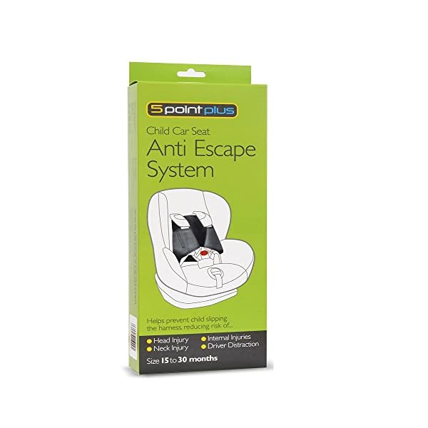5 Point Plus Car Seat Anti Escape System (15-30months) 5 Point Plus Prevents your child from wriggling free from their child seat Fills the gaps in the harness to prevent an escape Simple and easy to fit in around 20 seconds 2