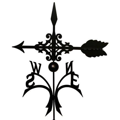 Wetterfahne 57x71,5 cm Motiv Pfeil schwarz Stahl Windspiel Kugelgelagert