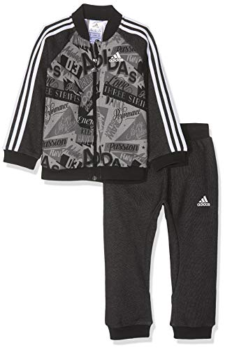 adidas Baby Basketballall Jogger French Terry Trainingsanzug, Three/Grey Five/Black/White, 86