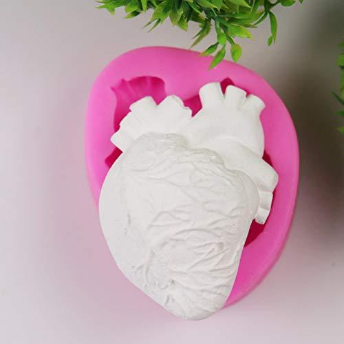 �rmige süßigkeiten schokoladenform 3d fondant silikon diy kuchen dekoration werkzeug Rosa ()