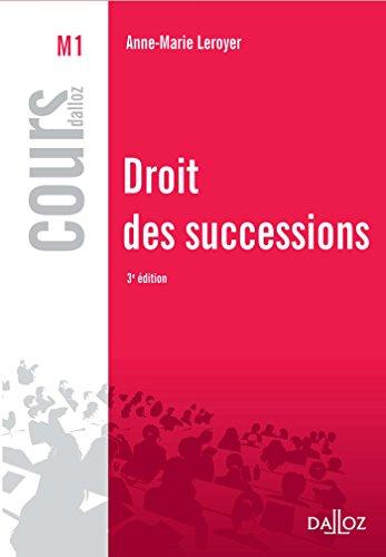 Droit des successions - 3e éd.