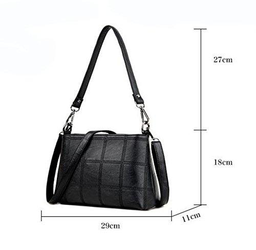 Handtaschen Mode Kleine Quadratische Tasche Schultertasche Kuriertasche Einfache Freizeitatmosphäre Red