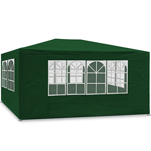 Maxx 3 x 4 m gazebo da giardino impermeabile/tenda da giardino gazebo da giardino/regolabile/gambe, per giardino/festa/matrimonio/picnic, uv30 +, pareti laterali, verde