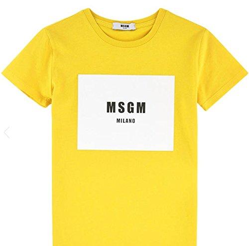 T-Shirt MSGM JERSEY BOY COL.020/GIALLO ART. 009448 10 ANNI