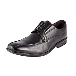 Urban Country Mens Black Leather Oxford Shoes (UCFWMC4081) - 7 UK