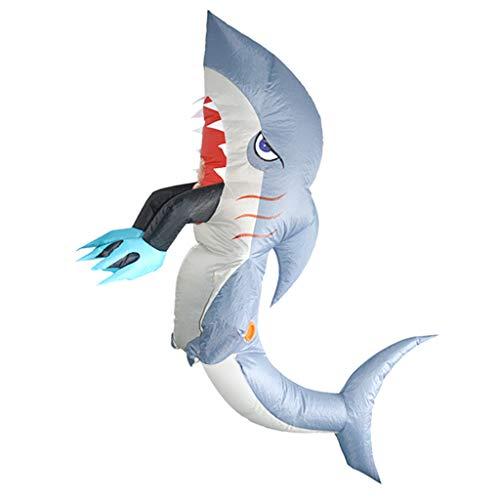 Sharplace Haifisch Aufblasbares Kostüm Erwachsene Kostüm Fatsuit Fett Anzug für Party Cosplay Fasching und Karneval