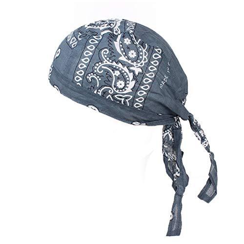 Rowentauk Männer Radfahren Hut Sport Headwear Retro Baumwolle Schnell Trocken Schädel Sonne Piratenkappe UV-Schutz Laufmütze Fahrrad Motorrad (Sport-hüte Für Männer)