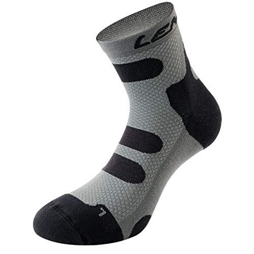 Lenz Kompression Socken 4.0 Low Kurz Sport Geruchsneutral Damen Herren Strümpfe Outdoor, 139, Farbe Schwarz Anthrazit, Größe 35-38 -