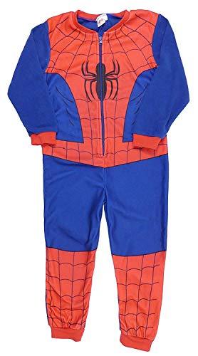 Spiderman Strampler Jungen Onesie Schlafanzug Alter 4 bis 8 Jahre (6-7 Jahre, rot) - Spiderman Onesies