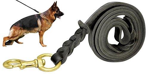8.5 Leder (Berry geflochten aus echtem Hundeleine Leder- Training & Walking Lederleine Hund - 3,6/4/5/6,5/8,5 Fuß - Latigo Leder Material hergestellt in uns)