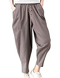 ShiFan Pantaloni Larghi Donna Harem Pantaloni con Elastico in Vita Casual  Pantalone Taglie Forti b3131cef129