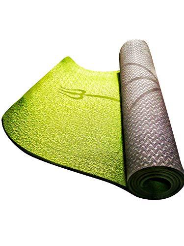 Alfly tappetino mat yoga e pilates professionale e ecologico, modello 2019 con linee allineamento antiscivolo e leggero