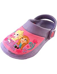 62029d5e3 Disney Girls Frozen Clog Flip Flop Sandals Cloggs Toddler Children - Aqua  Lilac Size 6-