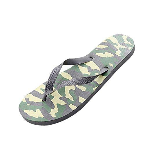 MOIKA Estate Uomini Camouflage Sandali Anti-Slittamento Scarpe da Spiaggia Pantofola (245/40, Grigio)