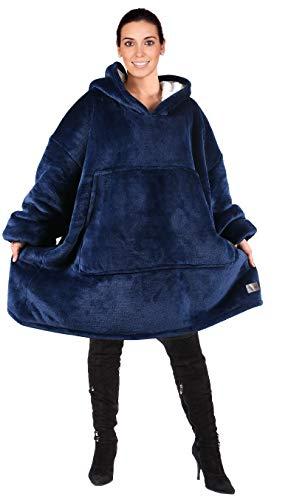 Tirrinia Übergroße Sherpa Hoodie Sweatshirt Decke, weiche warme Riesen Hoodie Fronttasche Erwachsene Männer Frauen Jugendliche - Erwachsenen Hoodie Pullover