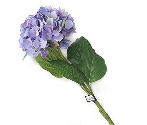 Floral Elegance künstlichen 87cm Single Stem violett Wuschelkopf–Hortensien x 6–Luxus Silk Flower Range