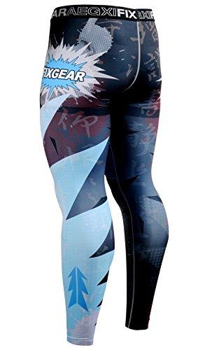 Cold Base Layer Legging (Fixgear Sports Herren Dual Kompressionhose Funktionswäsche Base Layer lang)