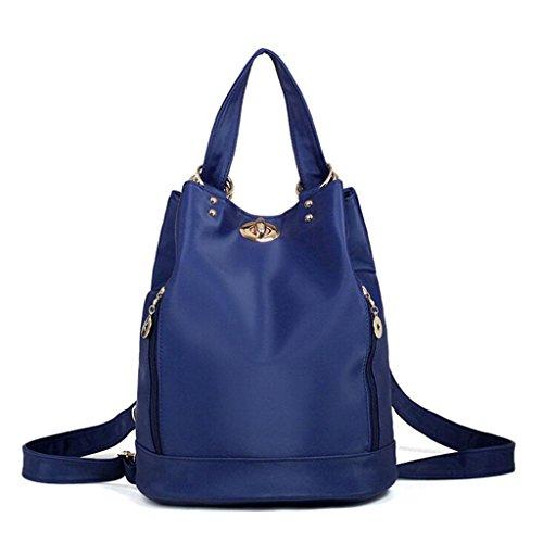 ZY&F zaino impermeabile nylon borse Ms. Panno borsa da viaggio Ms. cosmetico borsa a tracolla nero porpora grigio , black Blue