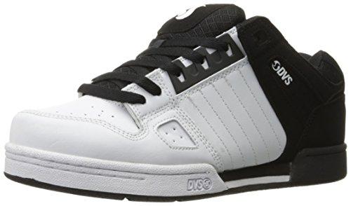 DVS Celsius Black White Leather Nubuck Schwarz
