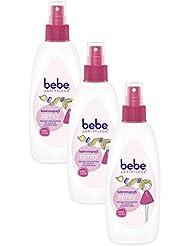 bebe Zartpflege Kämmspaß Spray / Haarpflege-Spray mit Arganöl für leichte Kämmbarkeit / 3 x 200ml