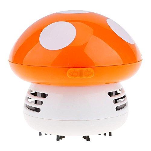 Kommerzielle Vakuum-tisch (Netter Pilzform Mini-Staubsauger Staub Reiniger Kehrmaschine Orange)
