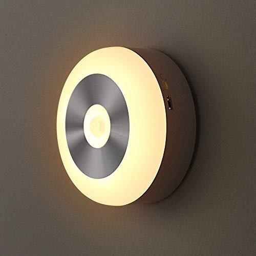Wynbee Premium Motion Sensor LED Light, Motion-Sensing Battery Powered LED Stick-Anywhere Nightlight, Wall Light for Entrance, Hallway, Basement, Garage, Bathroom, Cabinet, Closet (Warm White)