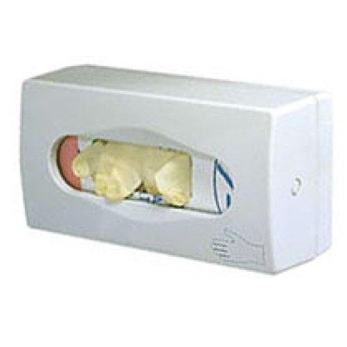 Spender für Einweghandschuhe in Boxen aus weißem Kunststoff