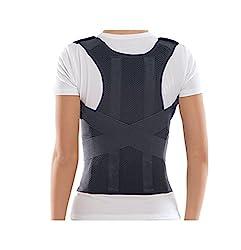 Bonvie Rückenbandage Rückenhalter Haltungskorrektur Geradehalter mit 2 Schienen für Damen und Herren zur Korrektur einer schlechten Körperhaltung, Größe:L