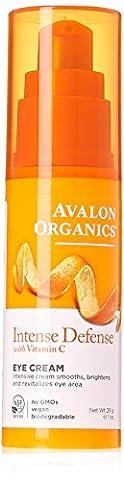 Avalon Active Organics Crème revitalisante pour les yeux - A base d'ingrédient bio - Enrichie en vitamine C - 30 ml