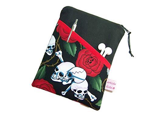 Reader Tablet Hülle Skulls N' Roses, Maßanfertigung bis max. 10,9