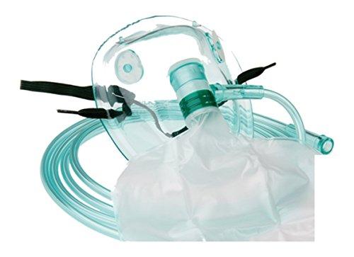 Sauerstoffmasken im Set TIGA MED Hohe Konzentration 10er Set (= 10 Stück) mit Reservoirbeutel f. Erwachsene mit 210cm Schlauch