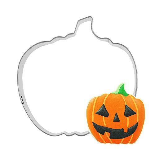 Halloween-Plätzchenform Kürbis Kekse Backen Haushalt Werkzeuge Kuchen Silber 5,8 x 6 cm