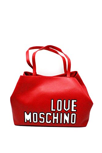 Love Moschino Pixel shopping bag red