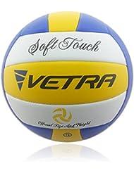 0a2438d154178 Vetra Volley-ball doux toucher Ballon de volleyball officiel taille 5  Extérieur Intérieur plage salle