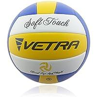 Vetra Voleibol Toque suave Volley Bola funcionario Tamaño 5 Amarillo / Azul / Blanco o Verde / Azul / Blanco al aire libre cubierta playa Gimnasio Juego de Pelota Nueva (Amarillo / Azul / Blanco)
