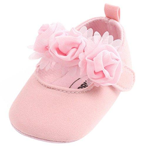 abbelschuhe,Baby Mädchen Prinzessin Schuhe,Mode Blumen Kleinkind erste Wanderer Kinderschuhe Taufe Hochzeit Party Schuhe Weicher Babyschuhe ()
