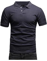 aa918bb71214ae Crone Paul Basic Herren Slim Fit Polo Shirt aus Pique Baumwolle Kurzarm  Polohemd in vielen Farben