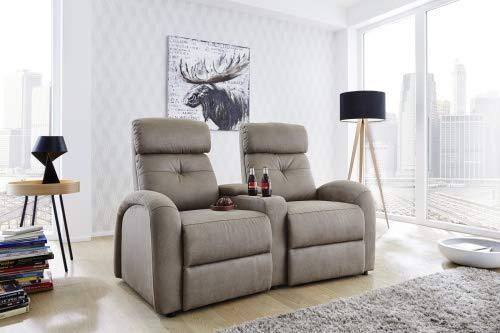 Pro Com Relaxstuhl Stoffsessel Loungesessel Fernsehsessel 2er Houston Grau